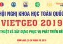 VietGeo 2019 – Thông báo số 1